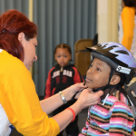 Helmet donation promotes biking safety