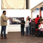 Young people draw inspiration from local artists