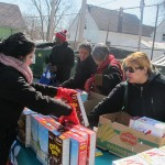 Thousands of pounds of free food distributed to Clarke Square residents