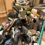 Shoes in City Hall display find way to kids in need