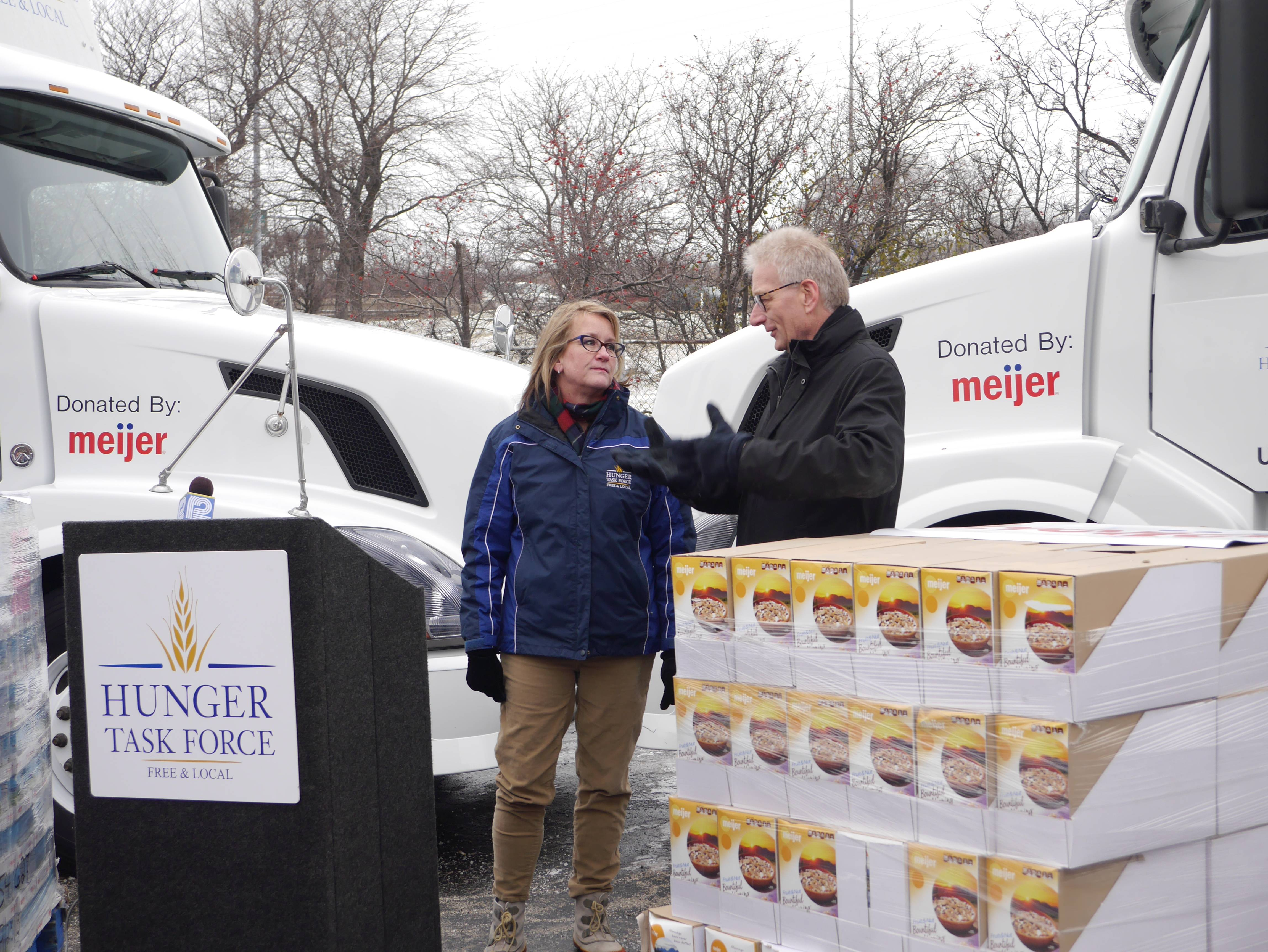 Meijer donates trucks, trailers and food to Hunger Task Force