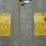 Notice of contamination posted on the vacant building at 3456 N. Buffum.