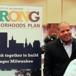 Attendees at the homeownership fair learn about the city's Strong Neighborhoods Plan, which features forgivable loans and other options for making home buying affordable. (Photo by Matthew Wisla)