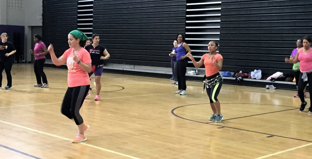 A Zumba party at Bradley Tech raises funds for students travelling abroad in April. (Photo by Maria Corpus)