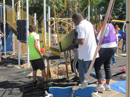KaBOOM! playgrounds are among the innovative designs that community members might consider for their neighborhoods.
