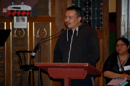 Mauricio Galicia, who attended the SOC's forum on driver's cards for undocumented residents, said he is concerned that holders of the card will be singled out by law enforcement. (Photo by Edgar Mendez)