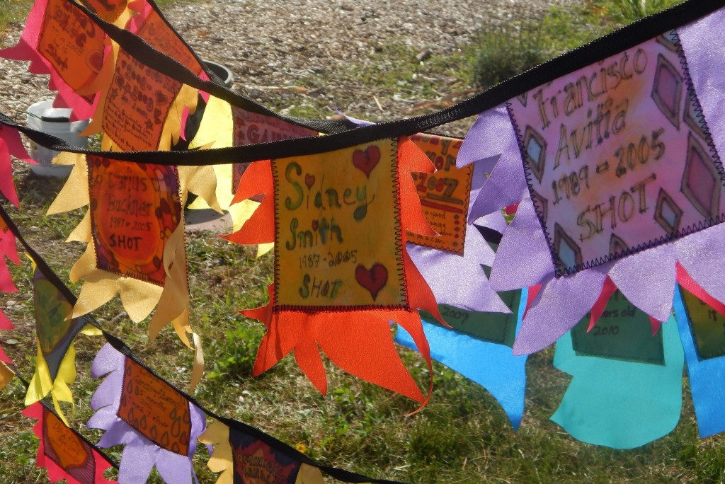 Participants at an anti-violence event sponsored by Wisconsin's Anti-Violence Effort memorialized victims. (Photo by Caroline Roers)