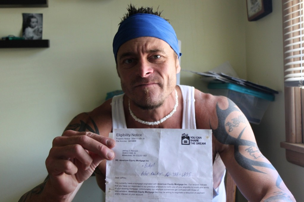 Mortgage scammers sent this letter to Jeff Renock, leading to his bankruptcy. (Photo by Matthew Wisla)