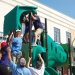 Volunteers build new KaBOOM! playground at COA Goldin Center