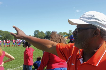 Players come from throughout the city to compete on the field and learn about responsibility and leadership in the process, according to Earl Ingram, vice-chairman of NCSL. (Photo by Matthew Wisla)