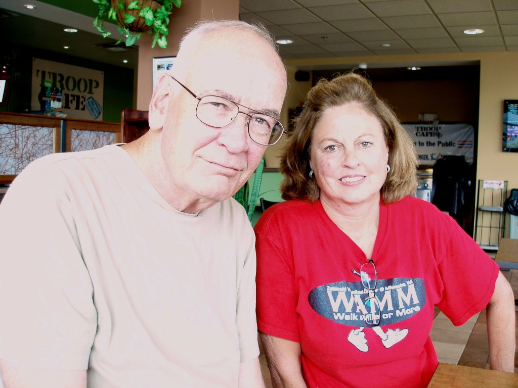 "Occupational therapist Nancy Wilke helped develop the ""Walk A Mile or More"" (WAMM) program, which inspired Vietnam veteran Jim Jennings to continue walking to maintain his health. (Photo by Peggy Schulz)"