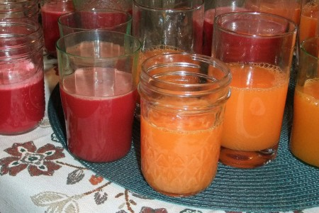 The juice is made from fresh fruits and vegetables, such as sweet potatoes, beets, apples, pineapples, grapes and plantains. (Photo by Wyatt Massey)