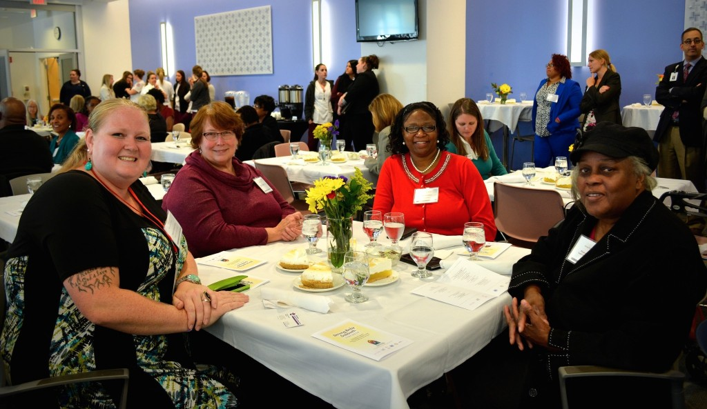 City police chaplains attend the fifth annual Strong Baby Sabbath Luncheon hosted by Columbia St. Mary's Hospital: Pastor Alexis Twito, Lynne Hines-Levy, Brenda Hines and Pastor Lucy Gaynor Hunter. (Photo by Marlita A. Bevenue).