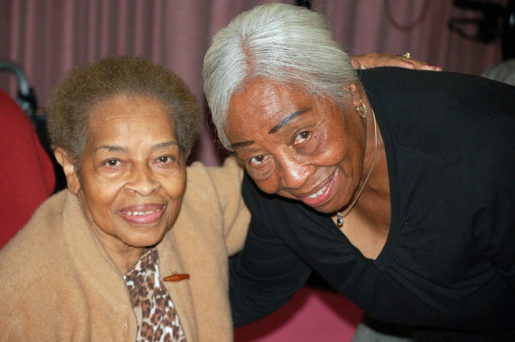Mary Listenbee (right), 89, has been a senior companion for Lela Malone, 81, for three years. (Photo by Edgar Mendez)