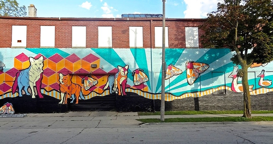 "The mural, titled ""A Source of Life,"" as seen from 31st Street. (Photo by Jeff Redmon)"
