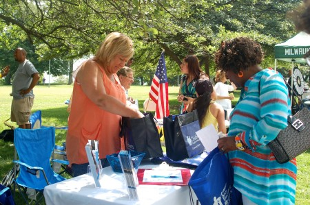 Washington Park draws people from across the county and hosts community events such as the 2015 NAACP resource fair. (Photo by Devi Shastri)