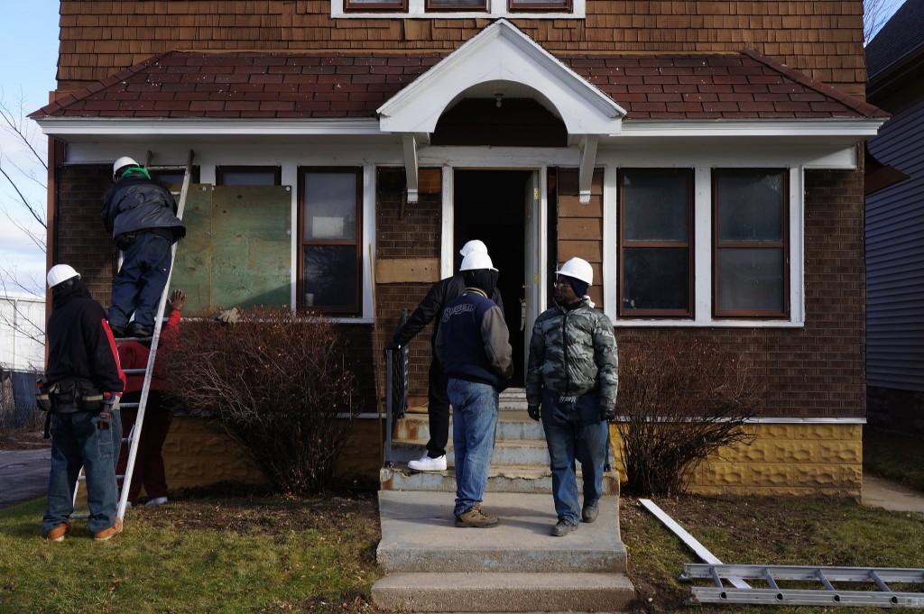 The Northside Housing Initiative renovates blighted homes. (Photo by Adam Carr)