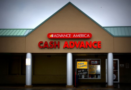 Advance America payday loan store on South 27th Street in Milwaukee. (Photo by Marlita A. Bevenue)