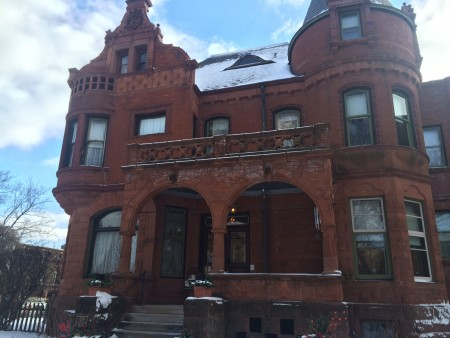 The owner of Schuster Mansion Bed & Breakfast in Concordia supports the neighborhood revitalization efforts of Near West Side Partners. (Photo by Julie Grace)