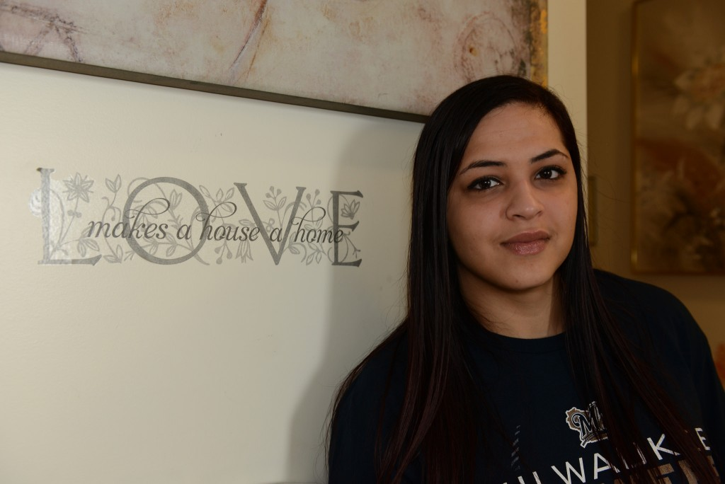 Maskani Place tenant Michelle Guzman has lived in the apartment complex for two years. (Photo by Sue Vliet)
