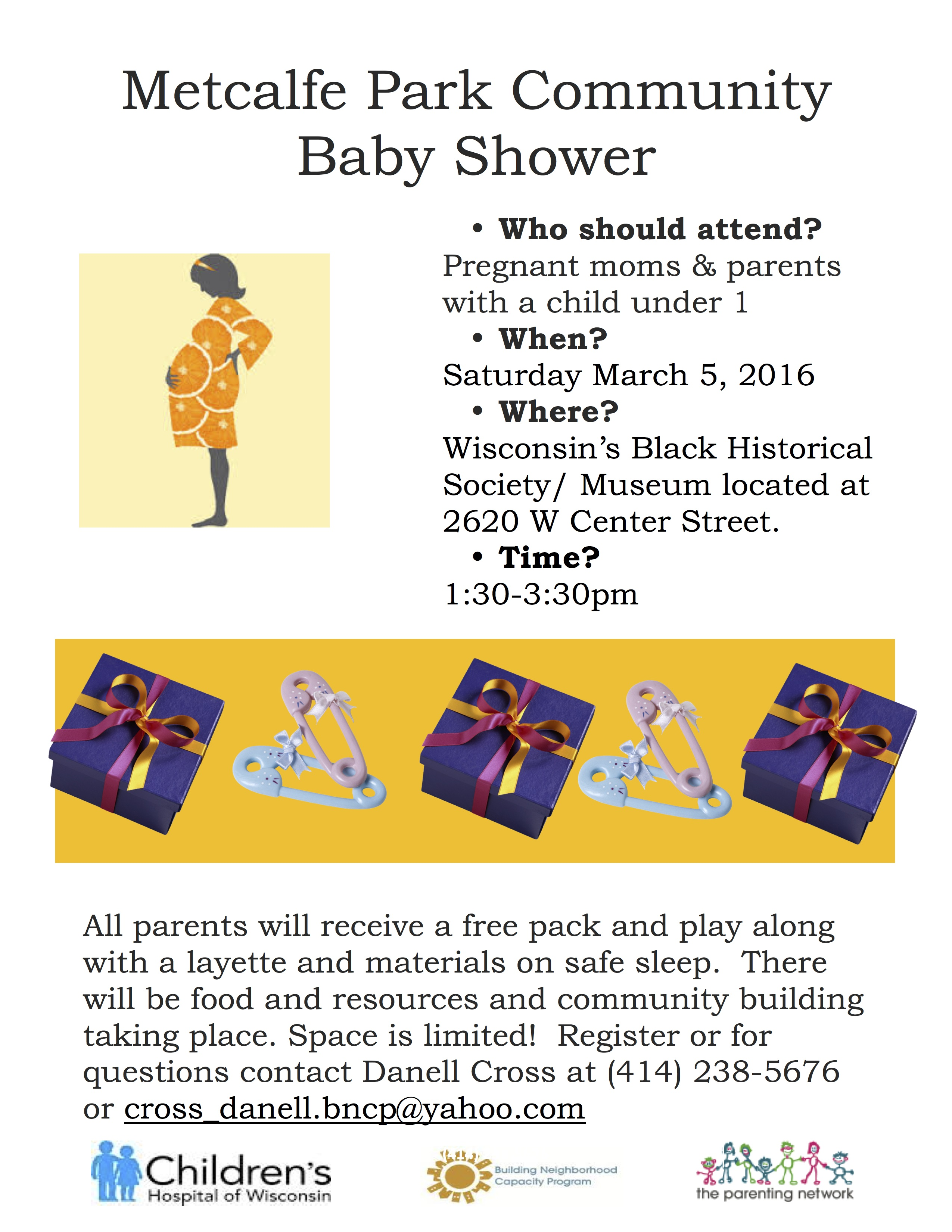 Announcing Metcalfe Park munity baby shower