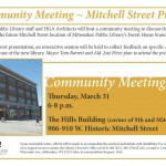 Community meeting for design of coming Mitchell Street library