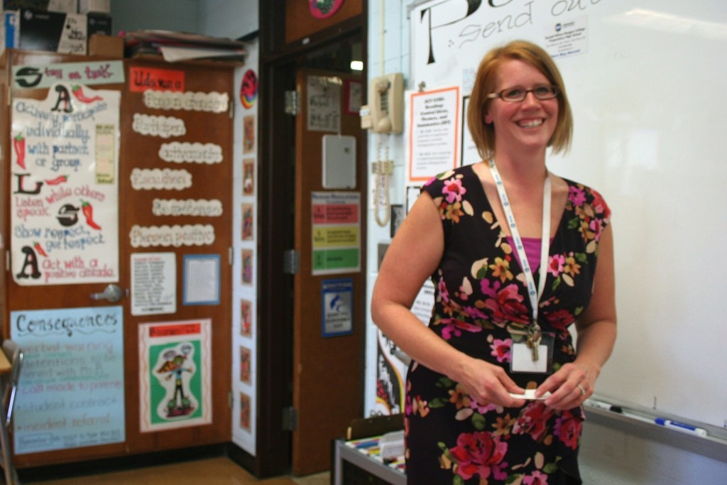 Sarah Moore, who won a prestigious national teaching award in 2013, has taught in Milwaukee Public Schools for more than 10 years. (Photo by Jabril Faraj)
