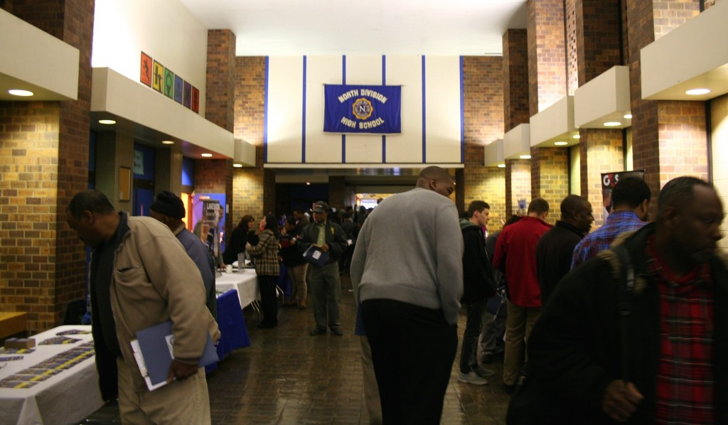 About 1,100 people attended the daylong event at North Division High School. (Photo by Jabril Faraj)