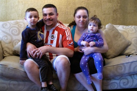 Armando Martinez and Ana Sanchez live with their children, Christopher and Melanie Martinez, on the South Side. (Photo by Wyatt Massey)