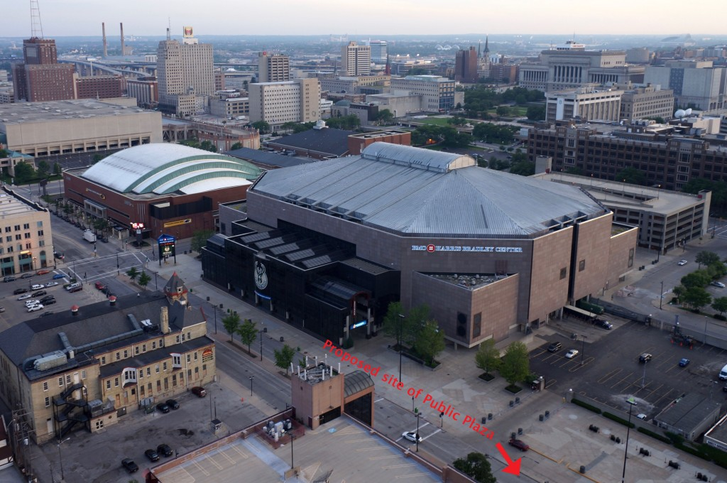 The portion of 4th Street between West Juneau Avenue and West Highland Avenue is northeast of the BMO Harris Bradley Center. (Photo by Adam Carr)