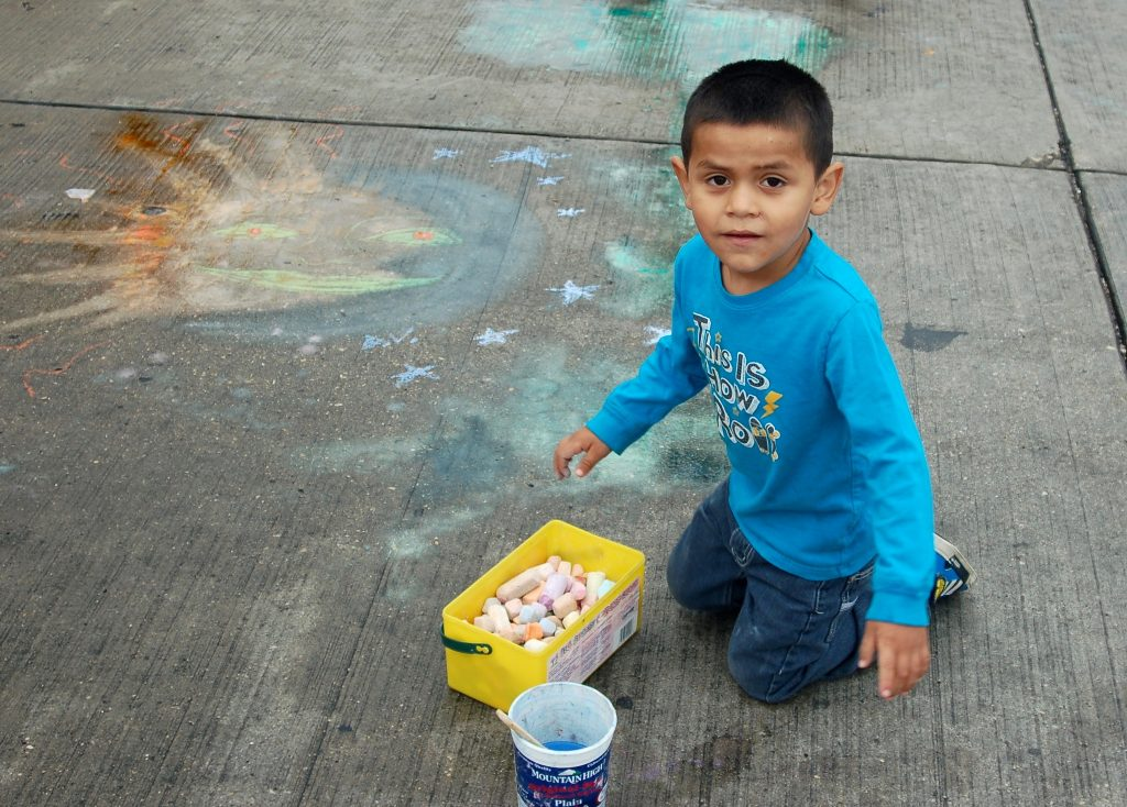 If you want your child to be creative, don't hover over him. (Photo by Andrea Waxman)