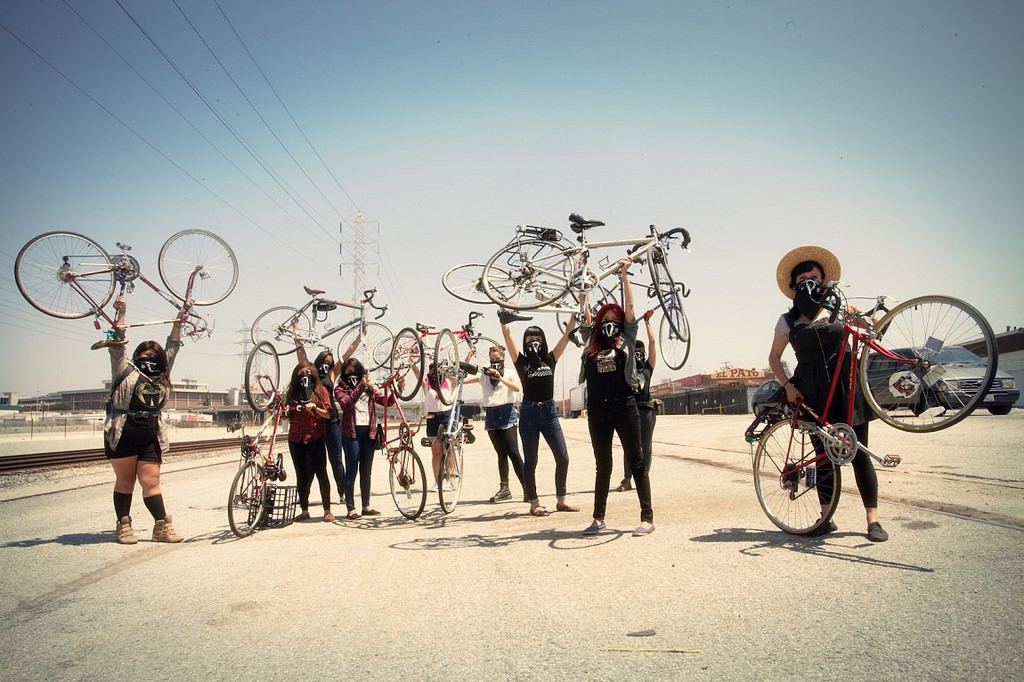 Ovarian Psycos, a film about a women of color bicycle crew, is one of six films to be featured as part of Cine Sin Fronteras at Milwaukee Film's upcoming festival. (Photo courtesy of Milwaukee Film)
