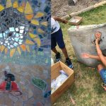 SHARP Literacy students create public art for Neighborhood House garden park
