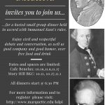 Announcing the Kantian Dinner Party Initiative