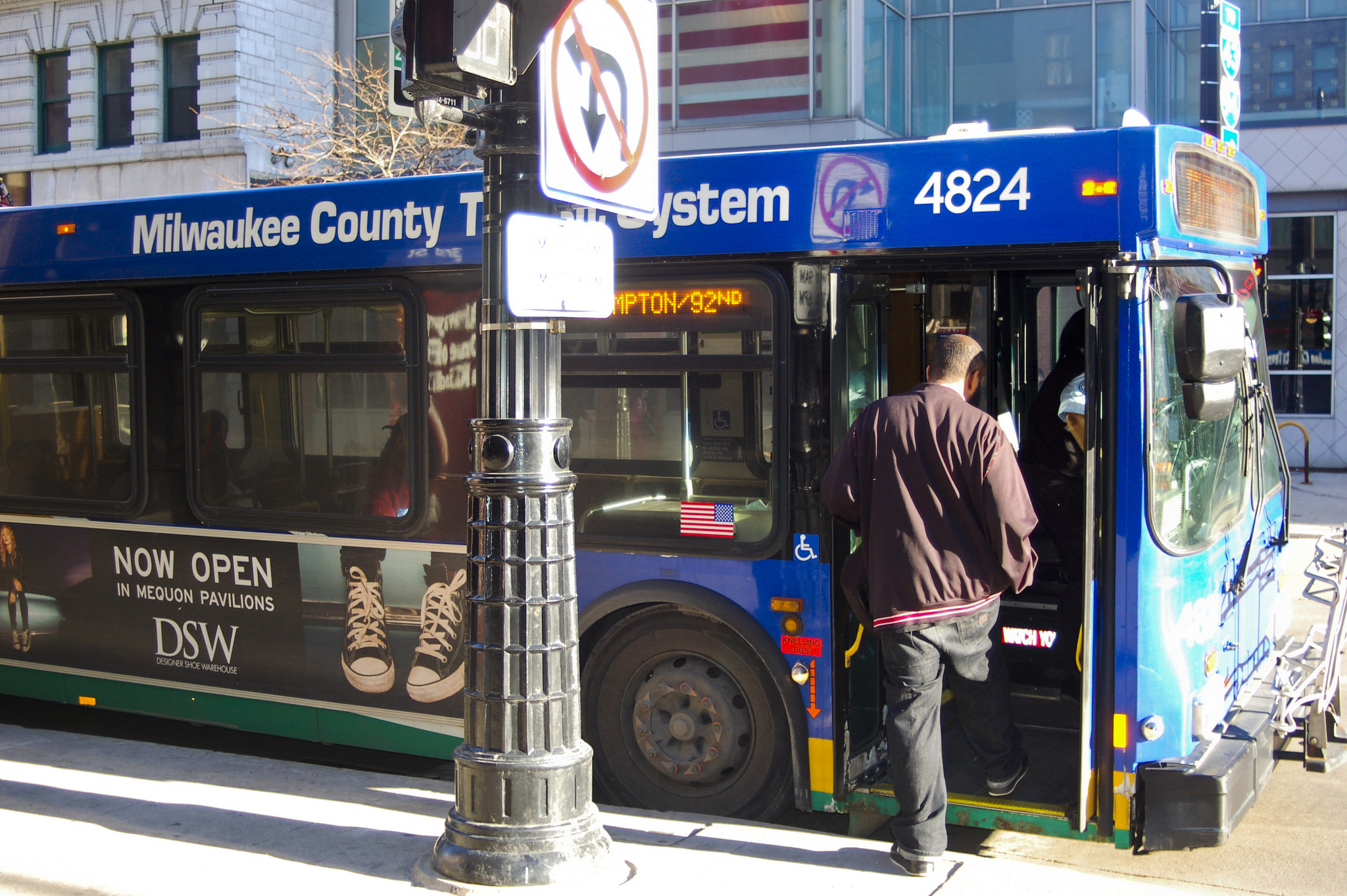 Policy experts warn that a decision not to implement a vehicle registration fee could have profound consequences for Milwaukee bus riders. (Photo by Alhaji Camera)