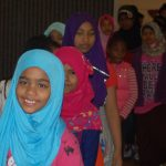 Refugee children visit installation at Haggerty Art Museum