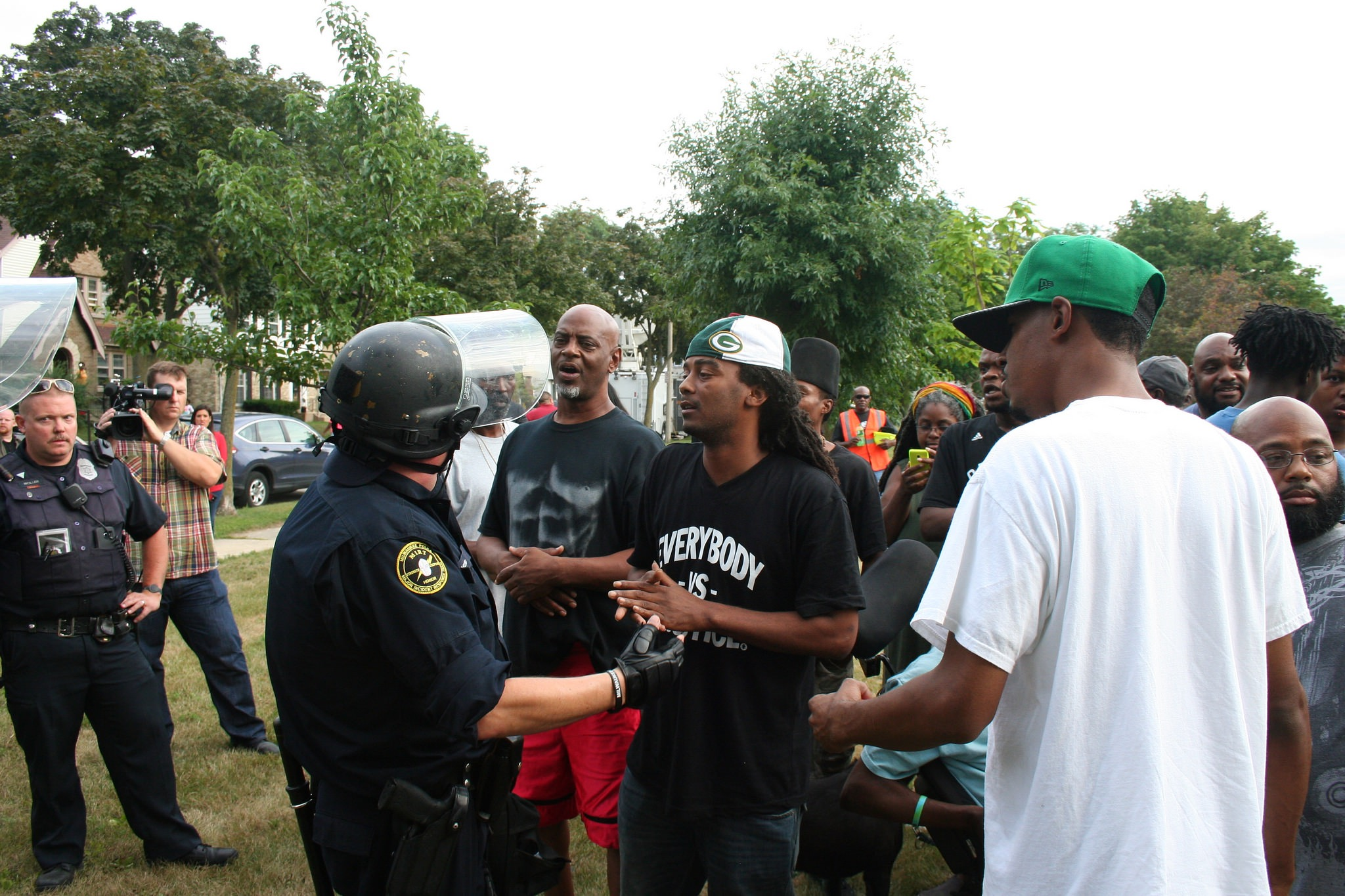 Overpolicing of North Side neighborhoods harms efforts to improve relations between police and the community, according to Milwaukee NAACP President Fred Royal. (Photo by Jabril Faraj)
