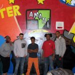 Teens create mural to inspire hope in Amani