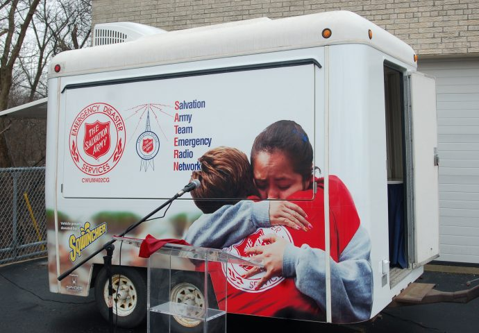 Salvation Army Unveils New Disaster Relief Trailer