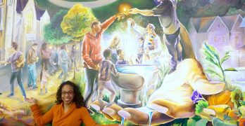 Local artist paints the stories of All Peoples Church