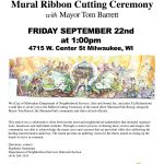 """Sherman Park Rising"" mural ribbon cutting ceremony"