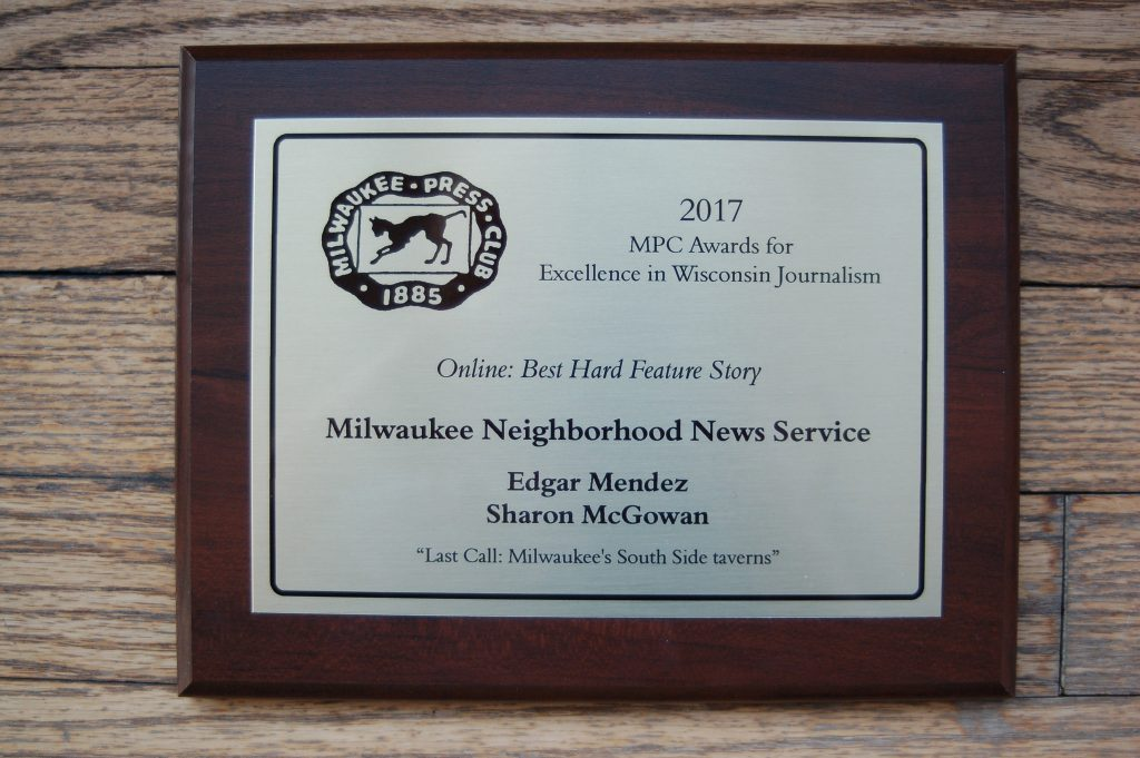 2018 Milwaukee Press Club award