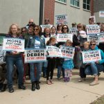 Rally protests forced separation of families