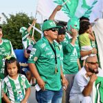 Thousands of enthusiastic Club León fans cheer on team at Miller Park soccer match