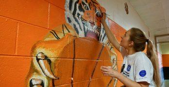 Volunteers build Zen Den, spruce up Riverside University High School