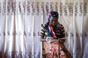 Refugee families on exhibit at Saint Joseph