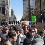 Protesters decry 'crisis in economy, democracy'