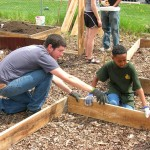 'Community-oriented community' unites to build a garden