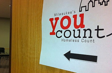 "A sign greets individuals to the ""You Count"" event at the Hillside Family Resource Center. (Photo by Brendan O'Brien)"