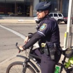 Military experience helps police officer on bike patrol 'be ready for anything'